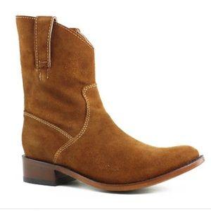 Dan Post LAD Boots Amber Suede Zip Round Toe NEW